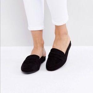 Suedette flat mules - flat shoes